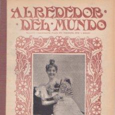 Coleccionismo de Revistas y Periódicos: ANTIGUA REVISTA ALREDEDOR DEL MUNDO – 1904 * ZARAGOZA * TORRES INCLINADAS * CABALLOS DE CARRERAS *. Lote 112742424