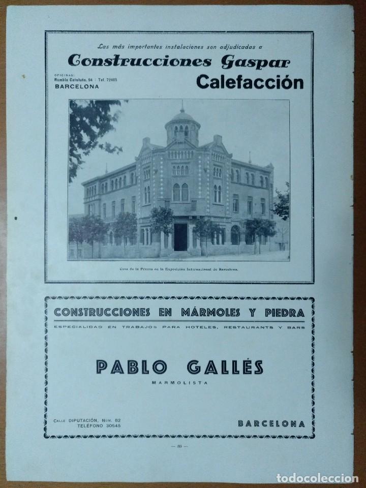 Coleccionismo de Revistas y Periódicos: FERROCARRIL ELECTRICO DE NURIA FOTOS ZERKOWITZ CONSTRUCCIONES GASPAR 1928 - Foto 2 - 113165683