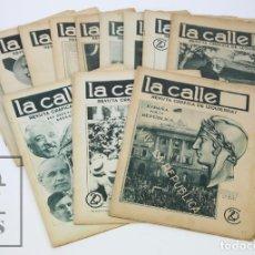Coleccionismo de Revistas y Periódicos: CONJUNTO 12 NÚMEROS LA CALLE. REVISTA GRÁFICA DE IZQUIERDAS - AÑOS 30 - REPÚBLICA / GUERRA CIVIL. Lote 113167931