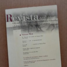 Coleccionismo de Revistas y Periódicos: REVISTA DEL COL·LEGI OFICIAL DE DOCTORS I LLICENCIATS EN FILOSOFIA I LLETRES 132, 2010 - SIMONE WEIL. Lote 113195111