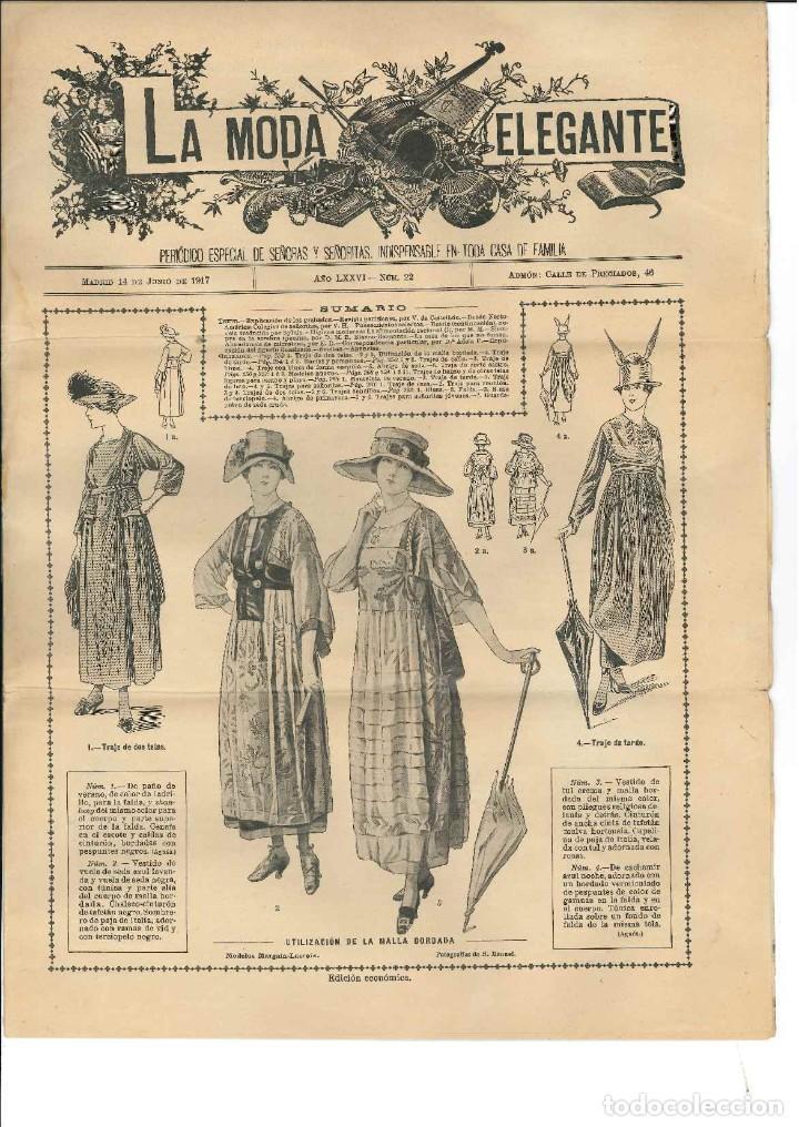 la moda elegante 1917 en muy buen estado con po - Comprar Revistas y ...