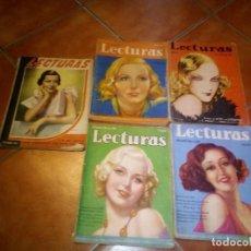 Coleccionismo de Revistas y Periódicos: LOTE DE CINCO PRESIOSAS REVISTAS LECTURAS AÑOS 34 A 36. Lote 113242535