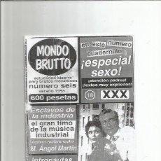Coleccionismo de Revistas y Periódicos: MONDO BRUTTO 6. Lote 113248139