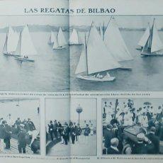 Coleccionismo de Revistas y Periódicos: SPORTING CLUB DE BILBAO REGATAS ALFONSO XIII 4 HOJAS REVISTA AÑO 1906. Lote 113298651