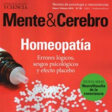 Coleccionismo de Revistas y Periódicos: MENTE & CEREBRO N. 88 ENERO/FEBRERO 2018 - EN PORTADA: HOMEOPATIA (NUEVA). Lote 113312135