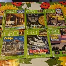 Coleccionismo de Revistas y Periódicos: LOTE 9 REVISTAS GEO. Lote 113337442