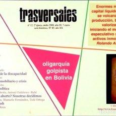 Coleccionismo de Revistas y Periódicos: TRASVERSALES - Nº 12 - 2ª ÉPOCA - OTOÑO 2008 / AÑO III / SERIE HISTÓRICA Nº 89 / AÑO XX. Lote 113377515