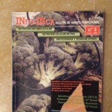 Coleccionismo de Revistas y Periódicos: INFO - INCA Nº 2 (NUTRICION ORTOMOLECULAR, NUTRICION CELULAR ACTIVA, DIETOTERAPIA). Lote 113535230