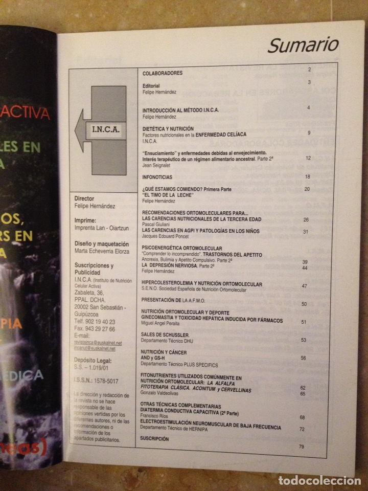 Coleccionismo de Revistas y Periódicos: Info - INCA Nº 2 (nutricion ortomolecular, nutricion celular activa, dietoterapia) - Foto 2 - 113535230