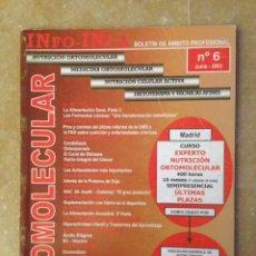 Coleccionismo de Revistas y Periódicos: INFO - INCA Nº 6 (NUTRICION Y MEDICINA ORTOMOLECULAR, NUTRICION CELULAR ACTIVA, DIETOTERAPIA). Lote 113535719