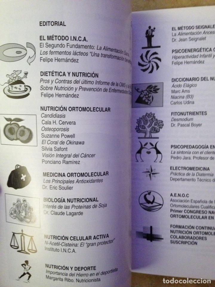 Coleccionismo de Revistas y Periódicos: Info - INCA Nº 6 (nutricion y medicina ortomolecular, nutricion celular activa, dietoterapia) - Foto 2 - 113535719