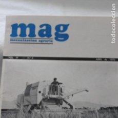 Coleccionismo de Revistas y Periódicos: REVISTA MAG, MECANIZACION AGRARIA, Nº 4, ABRIL 1970. Lote 113561959