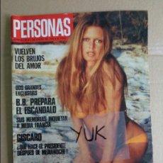 Coleccionismo de Revistas y Periódicos: PERSONAS - ENERO 1975 - BRIGITTE BARDOT - GLORIA GUIDA .... Lote 113718739