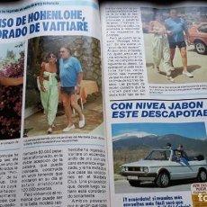Coleccionismo de Revistas y Periódicos: ANUNCIO JABON NIVEA VAITIARE ALFONSO DE HOHENLOHE. Lote 113725735