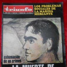 Coleccionismo de Revistas y Periódicos: REVISTA TRIUNFO NÚMERO 648 MARZO 1975. Lote 113779007