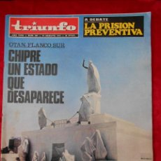 Coleccionismo de Revistas y Periódicos: REVISTA TRIUNFO NÚMERO 621 AGOSTO 1974. Lote 113781911