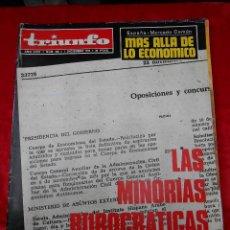 Coleccionismo de Revistas y Periódicos: REVISTA TRIUNFO NÚMERO 636 DICIEMBRE 1974. Lote 113783363