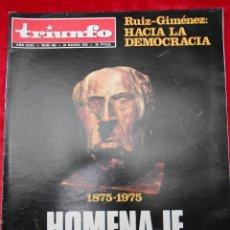 Coleccionismo de Revistas y Periódicos: REVISTA TRIUNFO NÚMERO 652 MARZO 1974. Lote 113784283
