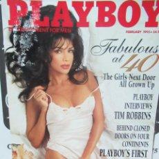 Coleccionismo de Revistas y Periódicos: REVISTA PLAYBOY INGLES. FEBRERO 1995 TIENE POSTER TIM ROBBINS THE GIRLS NEXT DOOR. Lote 113813507