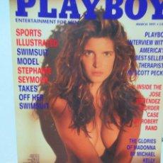 Coleccionismo de Revistas y Periódicos: REVISTA PLAYBOY INGLES. MARZO 1991 TIENE POSTER STEPHANIE SEYMOUR. Lote 113815799