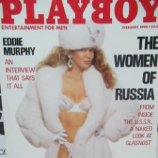 Coleccionismo de Revistas y Periódicos: REVISTA PLAYBOY INGLES. FEBRERO1990 TIENE POSTER PAMELA ANDERSON CHICA PLAYBOY. EDDIE MURPHY. Lote 113817355