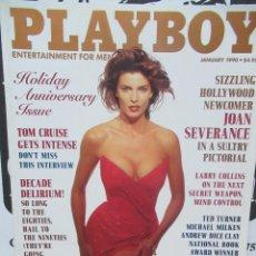 Coleccionismo de Revistas y Periódicos: REVISTA PLAYBOY INGLES. ENERO 1990 TIENE POSTER TOM CRUISE JOAN SEVERANCE LARRY COLLINS. Lote 113817659