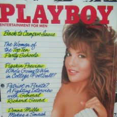 Coleccionismo de Revistas y Periódicos: REVISTA PLAYBOY INGLES. OCTUBRE 1987 TIENE POSTER DONNA MILLS BRANDI BRAND. Lote 113818371