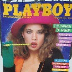 Coleccionismo de Revistas y Periódicos: REVISTA PLAYBOY INGLES. NOVIEMBRE 1985 TIENE POSTER KLAUS KINSKI SEX IN CINEMA - STING. Lote 113819735