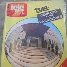 Colecionismo de Revistas e Jornais: TELE SIETE Nº 38 DE 1973- AGOSTO EN TVE- ASI FUE...- PEDRO MARI SANCHEZ- ANNY QUINTAS- JEANETTE- ++. Lote 113944523