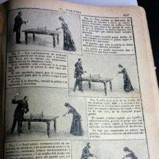 Coleccionismo de Revistas y Periódicos: AÑO 1903 PRIMER ESCRITO DE TENIS DE MESA EN CASTELLANO. Lote 113991515