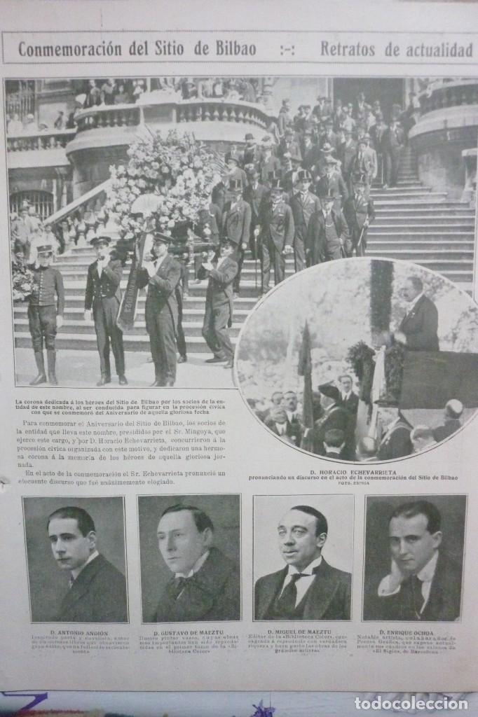 AÑOS 20. CONMEMORACIÓN DEL SITIO DE BILBAO (Coleccionismo - Revistas y Periódicos Antiguos (hasta 1.939))