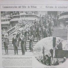 Coleccionismo de Revistas y Periódicos: AÑOS 20. CONMEMORACIÓN DEL SITIO DE BILBAO. Lote 113991983