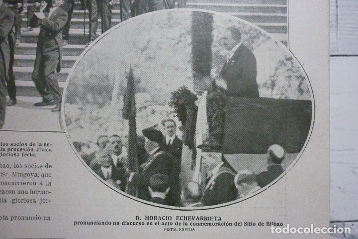 Coleccionismo de Revistas y Periódicos: AÑOS 20. CONMEMORACIÓN DEL SITIO DE BILBAO - Foto 2 - 113991983