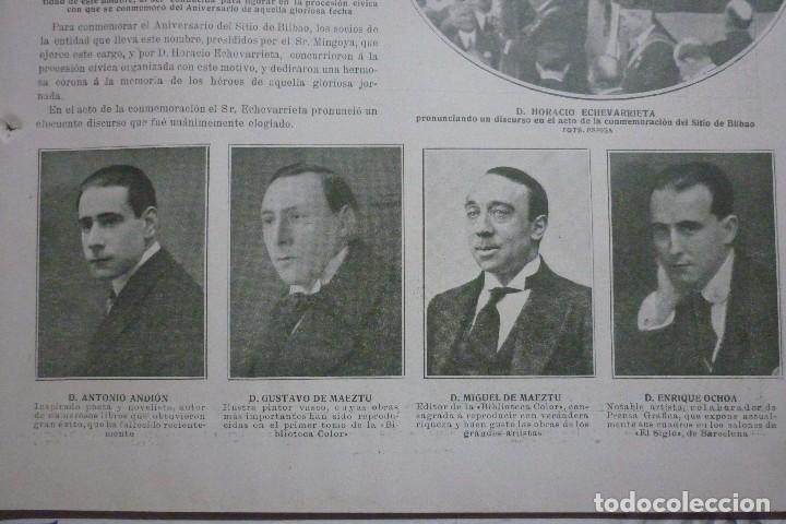 Coleccionismo de Revistas y Periódicos: AÑOS 20. CONMEMORACIÓN DEL SITIO DE BILBAO - Foto 3 - 113991983