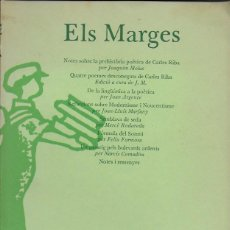 Coleccionismo de Revistas y Periódicos: ELS MARGES. NÚMERO 1 MAIG 1974. 23X16 CM. 125 P.. Lote 114078971