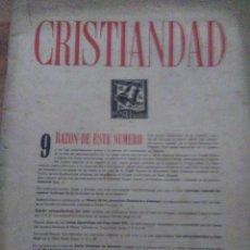 Coleccionismo de Revistas y Periódicos: CRISTIANDAD 1 DE MAYO 1944 AÑO I NUMERO 3 Y NUMERO 9 CRISTIANDAD Y LA ACCION CATOLICA. Lote 114182507