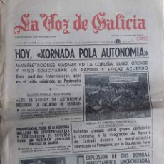 Coleccionismo de Revistas y Periódicos: LA VOZ DE GALICIA. 4 DICIEMBRE 1977. PERIODICO. Lote 114323715
