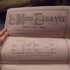Coleccionismo de Revistas y Periódicos: LA MODA ELEGANTE PERIODICO DE SEÑORAS Y SEÑORITAS - MADRID 1879 Nº 39 COMPLETA 22 PAG.. Lote 114367571