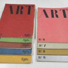 Coleccionismo de Revistas y Periódicos: REVISTA ART, 1930'S. LOS 9 PRIMEROS NÚMEROS. . Lote 114466811