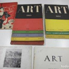 Coleccionismo de Revistas y Periódicos: REVISTA ART. 2ª EPOCA. 9 NÚMEROS. VER DATOS. 1930'S.. Lote 114467407