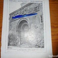 Coleccionismo de Revistas y Periódicos: RECORTE DE PRENSA. PORTICO ROMANICO , IGLESIA DE CARRION DE LOS CONDES (PALENCIA) . LA ESFERA, 1919. Lote 114517295