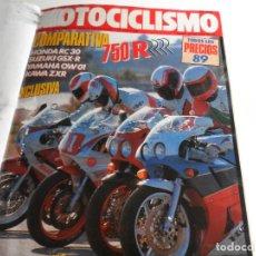 Coleccionismo de Revistas y Periódicos: MOTOCICLISMO REVISTAS AÑO 1989 NºS 1098 AL 1109 Y 1125 AL 1136. Lote 114610511