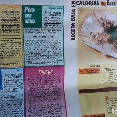 Coleccionismo de Revistas y Periódicos: RECETAS BAJA EN CALORIAS N 15. Lote 114670031