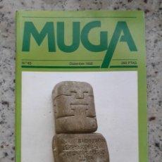 Coleccionismo de Revistas y Periódicos: MUGA Nº 83 DIC 1992. ESPECIAL JOSE MIGUEL DE BARANDIARAN. URTAIN. FESTIVAL DE CINE DE SAN SEBASTIAN. Lote 114673379