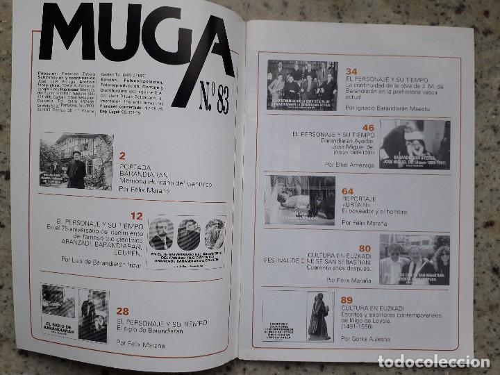 Coleccionismo de Revistas y Periódicos: MUGA Nº 83 DIC 1992. ESPECIAL JOSE MIGUEL DE BARANDIARAN. URTAIN. FESTIVAL DE CINE DE SAN SEBASTIAN - Foto 2 - 114673379