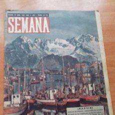 Coleccionismo de Revistas y Periódicos: REVISTA SEMANA. AÑO 1. NUM. 9. MADRID, 23 ABRIL 1940. ¡NARVIK!. Lote 114939339