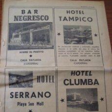 Coleccionismo de Revistas y Periódicos: CALA RATJADA, CAPDEPERA. DIARIO BALEARES. 25 ANIVERSARIO. 1964.. Lote 114990619