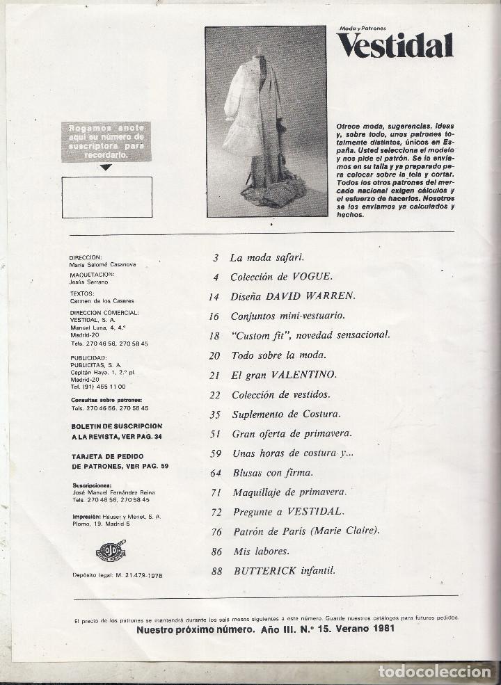 revsita vestidal moda y patrones nº 14 primaver - Comprar Otras ...