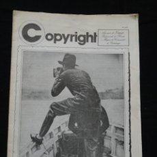 Colecionismo de Revistas e Jornais: COPYRIGHT - PRIMAVERA FOTOGRÀFICA DE BARCELONA 1982. Lote 115179063