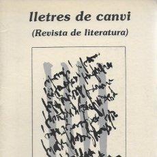 Coleccionismo de Revistas y Periódicos: LLETRES DE CANVI ( REVISTA DE LITERATURA ). NÚM. 1. VALÈNCIA, GENER 1980. 24X17 CM. 31 P.. Lote 115220779